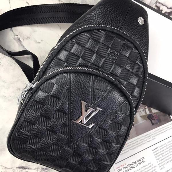 Classique de la mode homme femmes en cuir simple sac à bandoulière poitrine pack célèbre marque sacs à bandoulière sac à dos