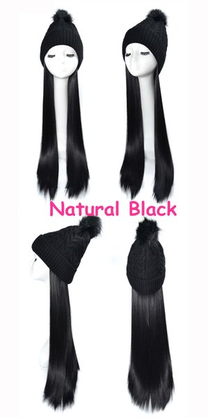 Black wig natural black straight Hair