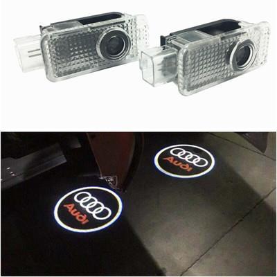 Audi Araba kapı Işık Hayalet Gölge Hoşgeldiniz Lazer Projektör Işıkları LED Audi A1 A3 A5 Q3 Q5 Için Araba Kapı Logosu
