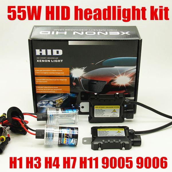 20 kits 12v 55w XENON h7 h11 9005 9006 HB3 HB4 880 881 H1 H3 hid headlight kit