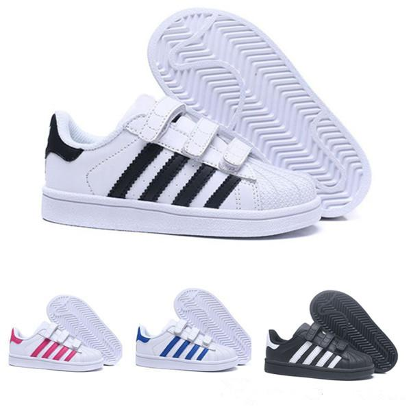 Acheter Adidas Superstar 80 2019 Enfants Superstar Chaussures Original Blanc Or Bébé Enfants Superstars Baskets Originals Super Star Filles Garçons