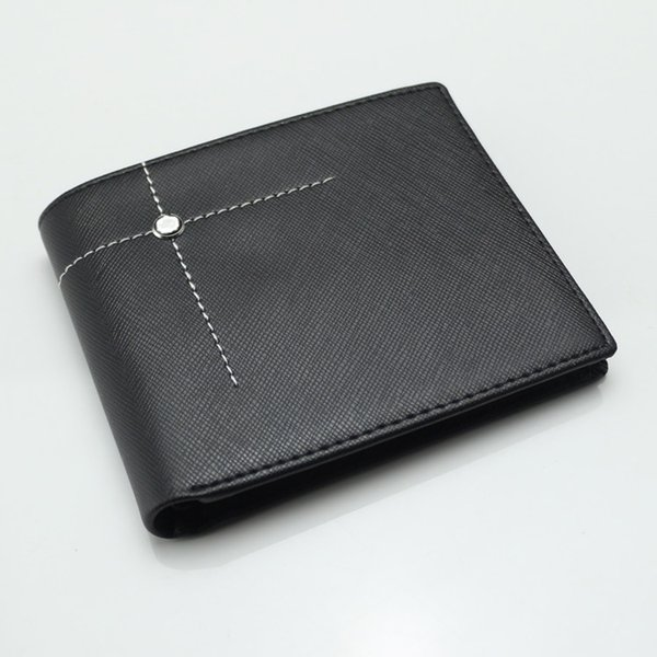 Luxury MB wallet Leather Men Wallet Short brand wallets MT Black purse card holder long wallet top quality for men's for business