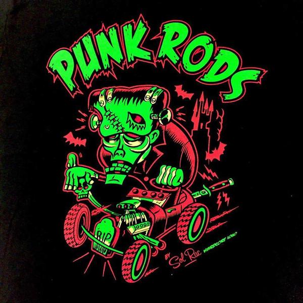 Парни футболка - панк стержни монстр хот-род рокабилли PIN UP гот Мужчины Женщины унисекс мода футболка Бесплатная доставка черный