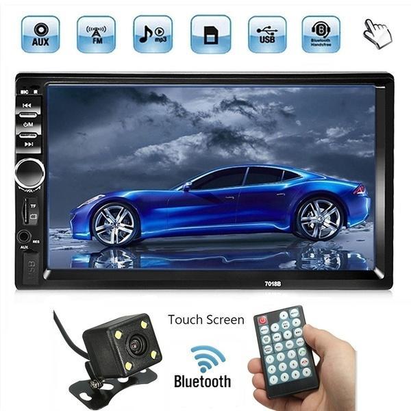top popular Autoradio 2 Din Car Radio 7'' HD Touch Screen Bluetooth FM USB AUX SD Car DVD Player+ 4 LED Rear View Camera 2021