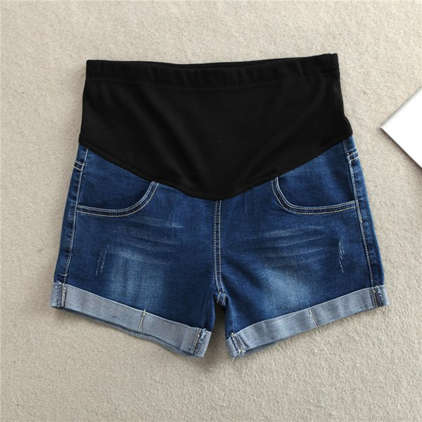 Abdominal Pants Maternity Short Jeans Trousers Women Denim Summer Big Code High Elasticity Cool Hot Sale 29my F1