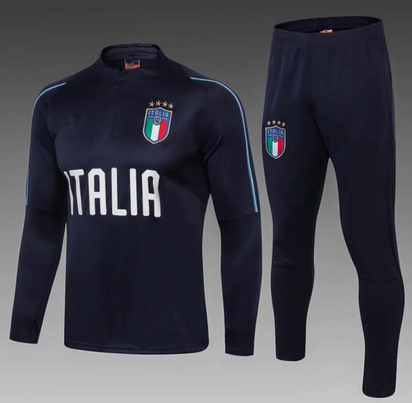 Acheter 2018 19 Football Survetement Italie Survêtement Italia Survêtement, Kits De Football Chandal 1819 Entraînement Italien Brillant Pantalon