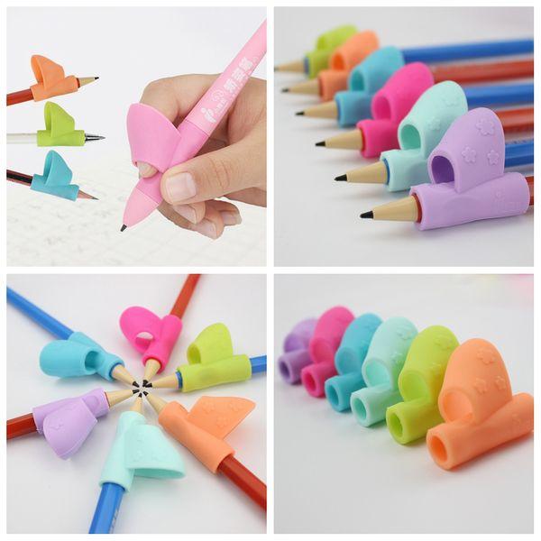 Hilfe Griff Haltung Schreibstift Korrektur Silikon Stifthalter Gerät Werkzeug Student Stationäre Geschenk Spielzeug Magie Kinder Stifte Werkzeug FFA1333