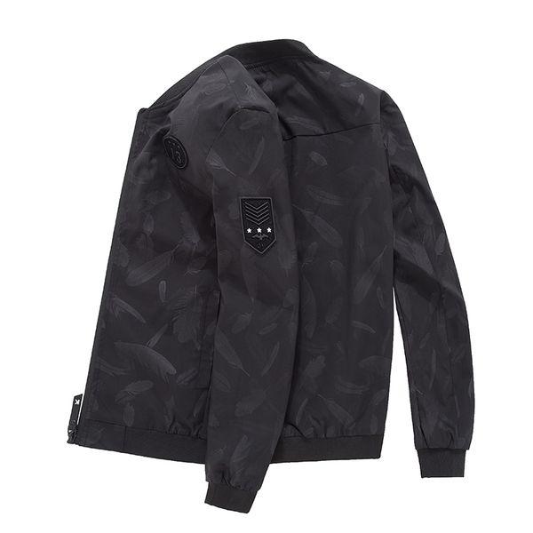 Floral Jacket 2019 spring Autumn Mens Hooded Jackets Slim Fit Long Sleeve Homme Trendy Windbreaker Coat Brand Clothing 4XL