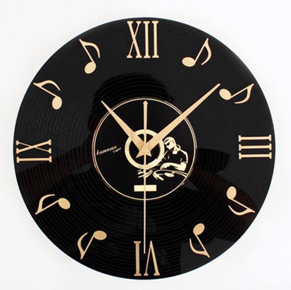 Free shipping Free shipping Tivoli audio note dated 3 d vinyl CD wall clock Fashion wall clocks