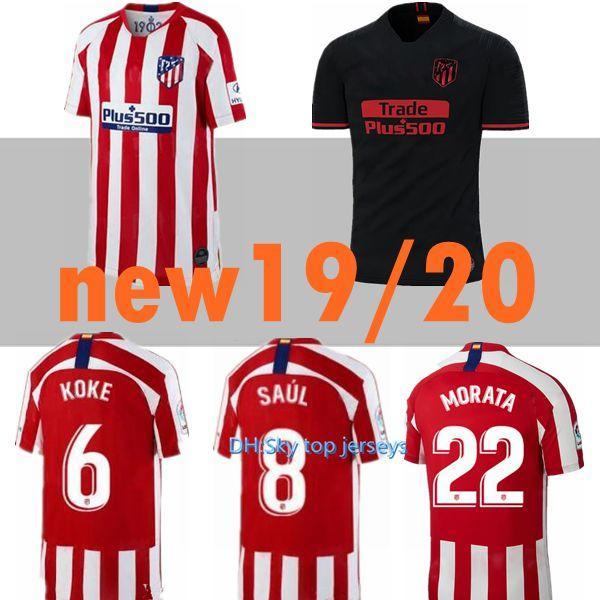 new arrival 9179e edbab 2019 19 20 Atletico De Madrid GRIEZMANN MORATA Soccer Jersey 2019 2020 KOKE  GABI SAUL DIEGO COSTA Men Kids Kits Away Black Third Football Shirt From ...