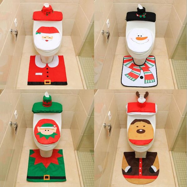 Sensational 2019 Santa Toilet Seat Covers Christmas Decoration Rug Reindeer Toilet Seat Covers Rug Hotel Bathroom Set Xmas Gift Lxl376 From Bling World 4 44 Squirreltailoven Fun Painted Chair Ideas Images Squirreltailovenorg