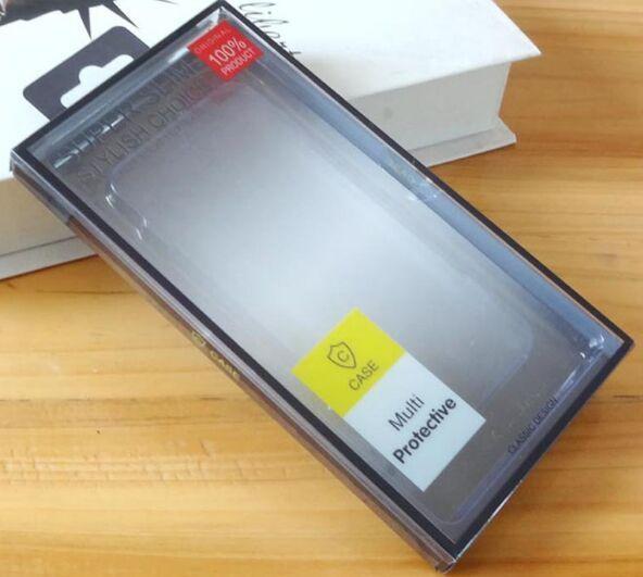 Caja vacía de plástico universal del paquete de venta al por menor del PVC para la caja del teléfono iphone X 8 7 6 6S más Samsung Galaxy S6 S7 edge S8