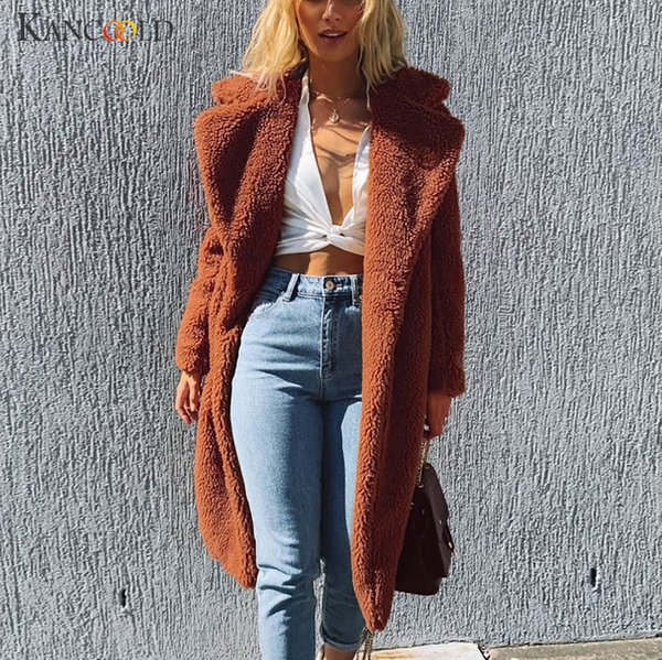 KANCOOLD coats Womens Ladies Warm Faux Fur Jacket Winter Solid Long Parka Outerwear fashion new Coat and jackets women 2019AUG9