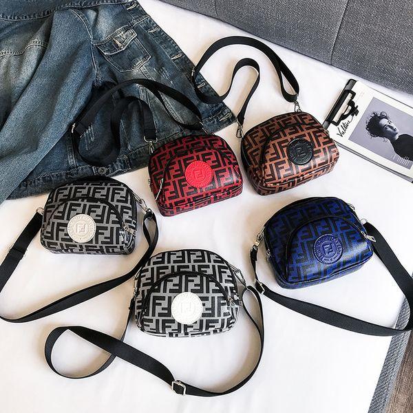 5 styles lettre imprimée petit sac de mode fermeture à glissière épaule pochette téléphone sac bandoulière parti voyage mini sac FFA1908
