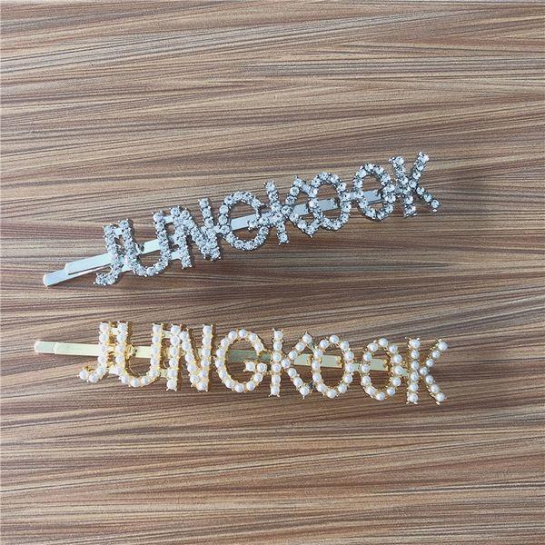 New Fashion Hair Pins JHOPE JUNG KOOK Hairpin Hair Jewelry Headband Jewelry Bangtan Boys Accessories Gift