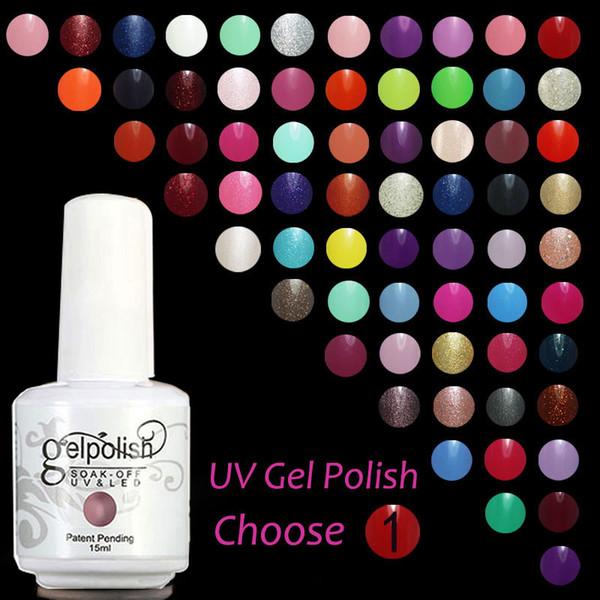 Gelpolish Harmony Gelish esmalte de uñas 120 colores 15 ml Gel polaco UV Color Gel de uñas Soak Off base Gel rematarlo con base mate