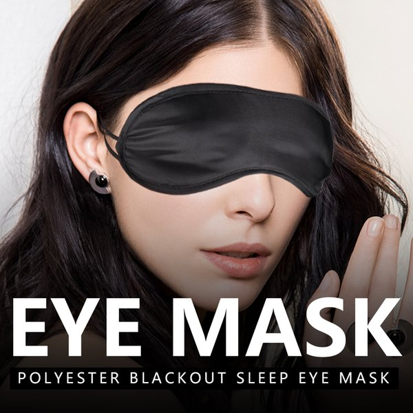 top popular Portable Soft Sleep Blackout Glasses Fatigue Mitigation Nerve Breathable Cool Travel Sleep Rest Aid Eye Mask Cover Black 2019