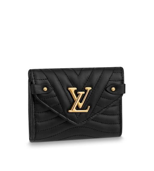 M63427 New Wave Compact Wallet WOMEN REAL LEATHER LONG WALLET CHAIN WALLETS COMPACT PURSE CLUTCHES EVENING KEY CARD HOLDERS