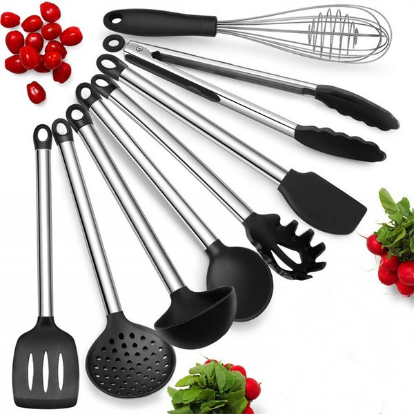 2019 Durable & Improved Design Silicone Heat Resistant Kitchen Cooking  Utensils Non Stick Baking Tool Tongs Ladle Gadget From Yomgoshop11, $13.07  | ...
