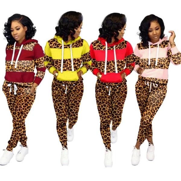 Womens tuta 2 pezzi abiti maniche lunghe leggings camicia jogging Sport Si addicono sportivo sexy di vendita donne calde abbigliamento klw2395
