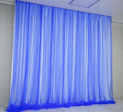 Tela blanca pura + hilo azul zafiro