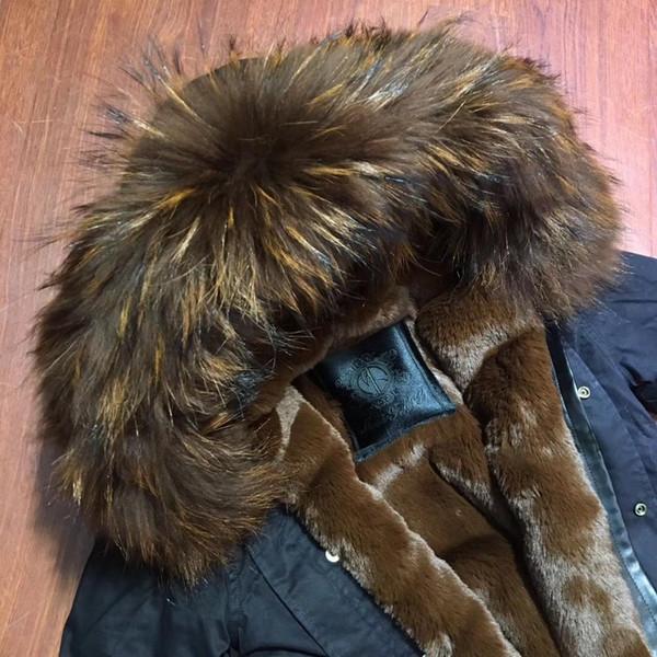 Brown abrigo de pieles de moda ropa de sport chaqueta de la mini manga larga negro con sudaderas
