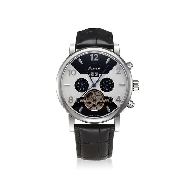 Top Quality New Luxury Watch Automatic Tourbillon Men's Wristwatch Leather Stainless Watches Dive Sport Mens Antique Fashion Male Watch