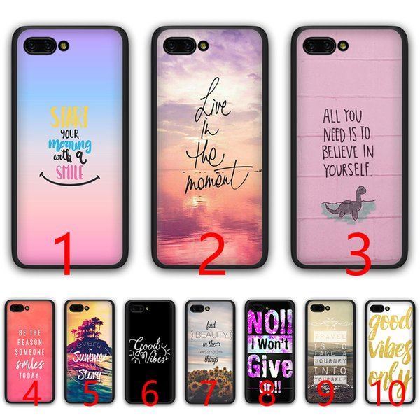 Protectores De Celulares Proverbio Frase Lema Good Vibes Only Love Silicone Black Tpu Funda Para Huawei Honor 6a 7a Pro 7c 7x 8x 8 9 10 Lite Fundas De