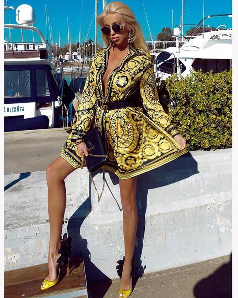 J1729 grenzüberschreitenden europäischen und amerikanischen Trend Urban Fashion Casual Temperament Pendlerfrauen Kleid vor Ort