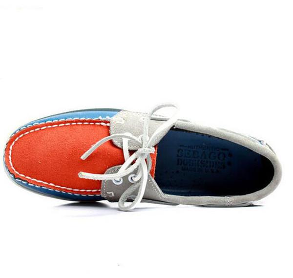 2019 moda erkekler süet top sider loafer'lar tekne ayakkabı mens mavi süet tekne el yapımı loafer'lar deri ayakkabı rahat ayakkabılar büyük boy n106