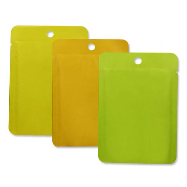 Wholesale Colored Ziplock Mylar Bags Discount Aluminum Foil Packing Pouch Food Bag Grip Seal Coffee Tea 10*14CM