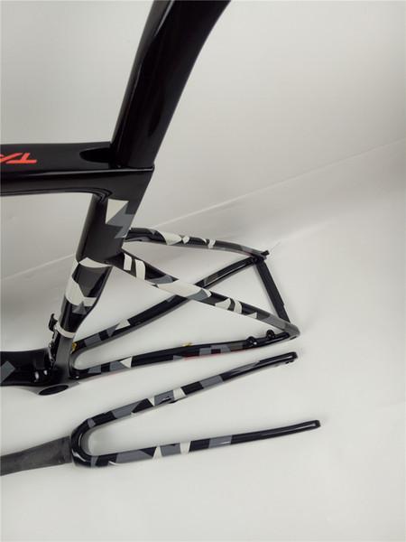 Hot sale sl6 carbon frame road bike thru axle 142*12 100*12 Ultralight 825g disc brake UD glossy bright T1000 700c Road bike racing frame