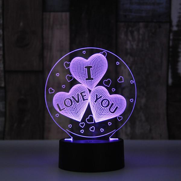 RGB Lights LED Lamp Base für 3D Illusion Lampe 4mm Acryl Licht Panel 3D Nachtlichter Atmosphäre mit IR Controller 3D Nachtschreibtischlampe