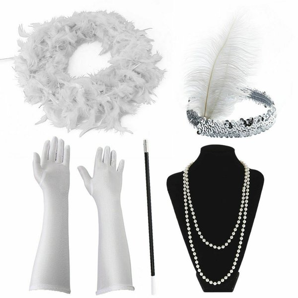 Flapper Ladies set Fancy Dress Hen Night 1920/'s flapper set