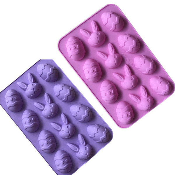 Easter Halloween Rabbit Egg Mold Ice Cube Silicone Bakeware DIY Model Cookie Chocolate Cake Booking Tool MMA1458