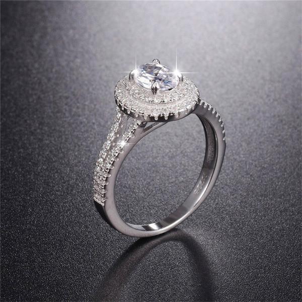 USA vendeur Ovale Bague De Mariage Set Argent Sterling 925 BEST DEAL Bijoux Taille 10