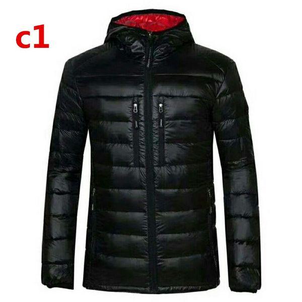 Mode-New Canadian Art und Weise Sport Marke Man 100% Gänsedaunen dünne hohe Qualität Warme Jacke mit Kapuze beiläufiger Baumwollmantel-Ausstattung Verschiffen frei