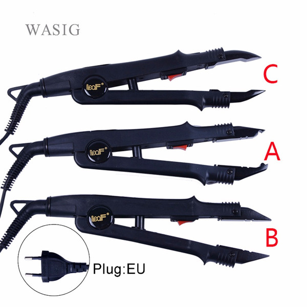 top popular Hair Extensions & Wigs 1pc JR-611 A B C tip Professional Hair Extension Fusion Iron Heat Connector Wand Iron Melting Tool EU outlet 2021