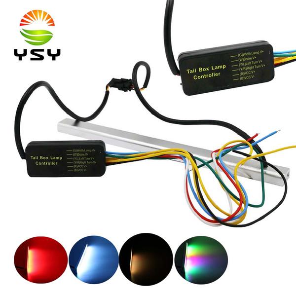 YSY24 LED DC 12V virar as costas sinal de luz LED RGB Flashing Light Bar Car Largura da lâmpada 6W matrícula Auto traseira travagem Lamp