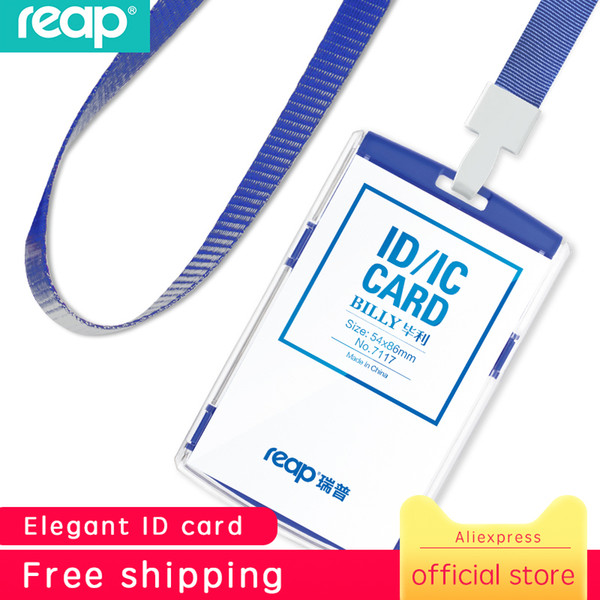 Reap pla tic tandard ize 54 86mm exhibition card id card holder name tag taff bu ine badge holder office