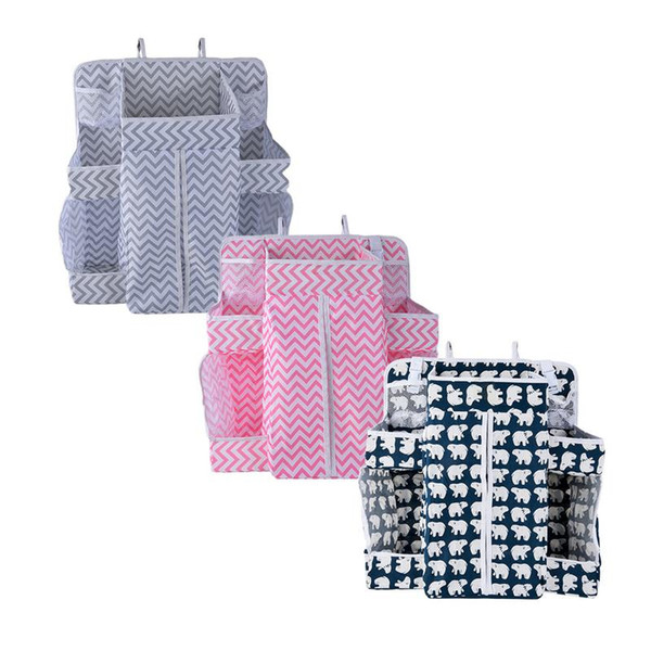 Baby Crib Children's Bed Hanging Bag Portable Waterproof Diapers Bedside Organizer Bed Bumper Cradle Bag Bedding Accessories