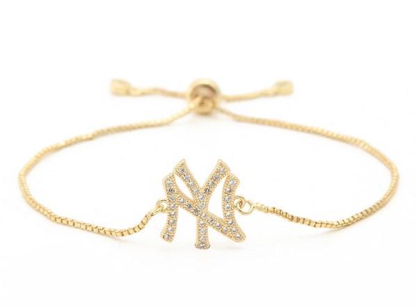 золото серебро цепи микро проложить CZ Циркон Цирконий браслет веревочка регулируется макрам круглого ювелирных изделий браслета th4234 Письмо моды