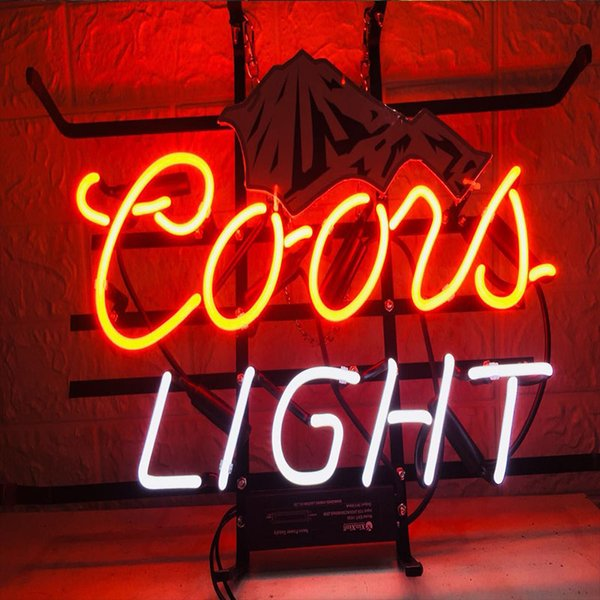 New Star Neon Sign Factory 17X14 Inches Real Glass Neon Sign Light for Beer Bar Pub Garage Room Coors Light.
