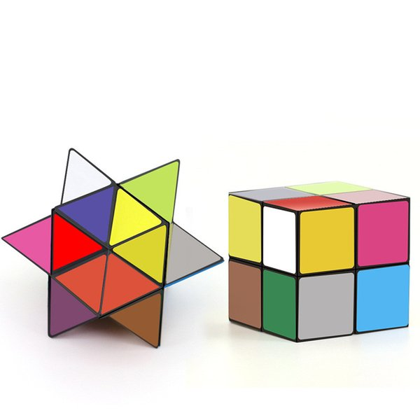 Star Cube Transforming Geometric Puzzle Magic Cube Detachable Infinity Colorful 2IN1 Infinity Cubes Fidget Novelty EDC Decompression Toys