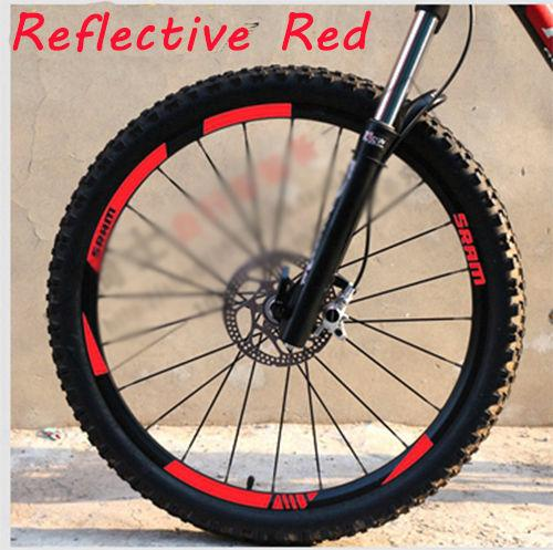 SRAM MTB Wheel rim Stickers for SRAM replacement Reflective Fluo Race Cycling dirt vinyl rim decals free shipping
