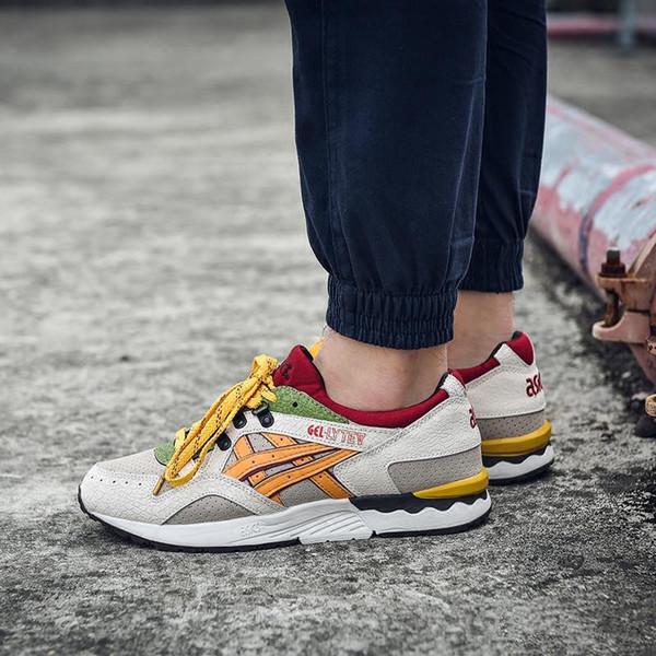 2019 Asics Gel Lyte V H519L-1611 Hombres Zapatos Mujer Zapatos de entrenamiento de calidad superior Zapatillas deportivas en línea Zapatos de diseñador para caminar