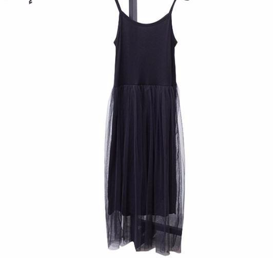 2019 Sexy Shoulder Summer Women Female Loose Spaghetti Strap Mesh Ladies Party Dresses New Clothing