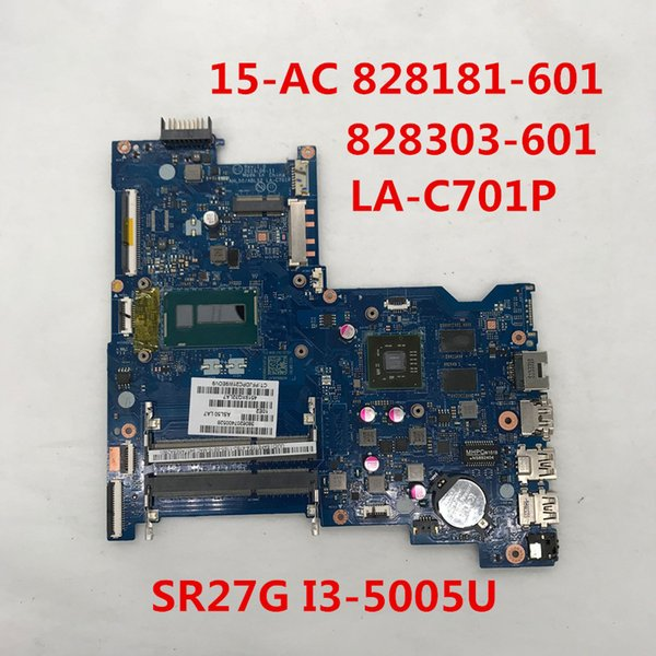 For pavilion 15-AC 15-ac151dx Laptop motherboard 828181-601 828303-601 LA-C701P With SR27G I3-5005U CPU HM77 DDR3 100% full Testd