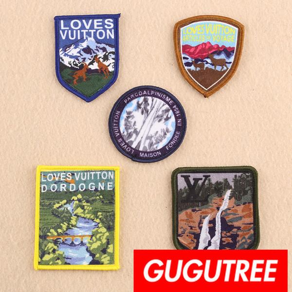 GUGUTREE вышивка патчи животных патч значок аппликация патч для пальто, футболки, шляпы, сумки, свитер, рюкзак SP-275