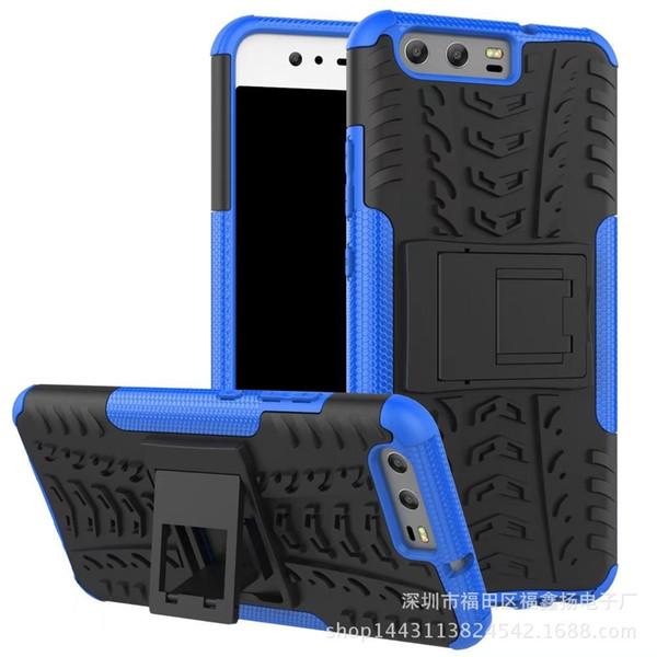 Huawei P10 Brilhante Colorida Escudo Do Telefone Móvel Glória 8-em-1 Armadura Anti-queda Do Telefone Móvel Shell Tampa de Suporte Do Pneu